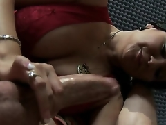 Nice-looking brunette milf Sophia Lomeli cant live without playing with big dicks! Now you could see how this babe plays with pecker of Jordan Ash by magic mouth and tender hands.