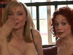 Clothed in super-sexy revealing undies, MILFs Justine Joly and Nina Hartley are here to let you scrutinize their stunning bodies and listen to their wicked sex stories!