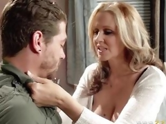 Julia Ann acquires pumped by her sons friend