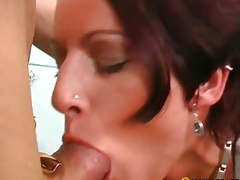 In her soaked pussy put his penis