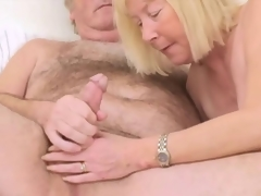 Hairy Grand-dad with Wife