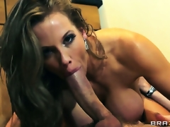 After a admirable anal fuck, hungry babe swallows pint of charming sperm