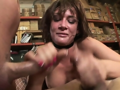 Excited schoolgirl gets pounded hardcore in all her holes with some nice double penetration act