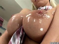 Sweet, oiled up titties and wet pussy make this Hungarian ultra lascivious