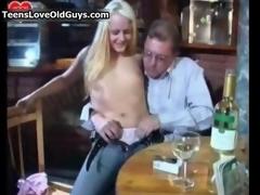 Ugly blonde slut gets horny sucking film 3