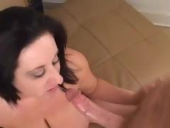 BBW milf lets him plug her wet pussy